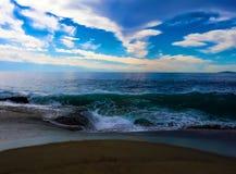 Aliso strand, ca-vintertid Arkivfoton