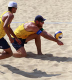 Alison, brasilianischer Strandvolleyballspieler Stockbild