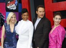 Alison Brie, Elizabeth Banks, Chris Pratt and Tiffany Haddish stock photos