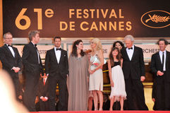 Alison Eastwood,Angelina Jolie,Brad Pitt,Clint Eastwood,Dina Eastwood,Kyle Eastwood Royalty Free Stock Photo