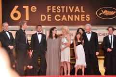 Alison Eastwood, Angelina Jolie, Brad Pitt, Clint Eastwood, Dina Eastwood, Kyle Eastwood Στοκ φωτογραφία με δικαίωμα ελεύθερης χρήσης