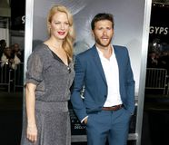 Alison Eastwood e Scott Eastwood immagine stock