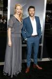 Alison Eastwood en Scott Eastwood stock afbeeldingen