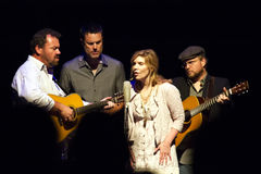Alison Kraus Dan Tyminski,Ron Block & Barry Bales Royalty Free Stock Photography