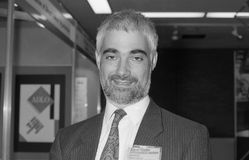 Alistair Darling. British Chancellor of the Exchequer and Labour M.P. for Edinburgh Central, in Brighton, England on October 1, 1991 Royalty Free Stock Image