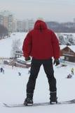 Aliste a la snowboard fotografía de archivo libre de regalías