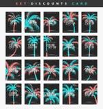 Aliste las cupones del descuento del diseño a partir del 5 al 99 por ciento Imágenes de archivo libres de regalías