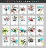 Aliste las cupones del descuento del diseño a partir del 5 al 99 por ciento Foto de archivo libre de regalías