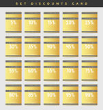 Aliste las cupones del descuento del oro del diseño a partir del 5 al 99 por ciento Imagen de archivo