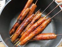Aliste las salchichas sazonadas con pimienta Imagen de archivo libre de regalías