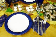 Aliste para comenzar una cena Foto de archivo libre de regalías