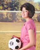 Aliste para el fútbol Fotografía de archivo