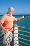 Aliste para hostigar el gancho de leva de pesca Fotos de archivo libres de regalías