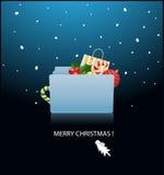 aliste para la carpeta de Mac OS X de la Navidad Imagen de archivo libre de regalías