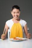 Aliste para la comida Imagen de archivo libre de regalías