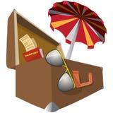 Aliste para las vacaciones (el icono) imagen de archivo libre de regalías