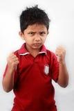 Aliste para luchar al muchacho Fotos de archivo libres de regalías