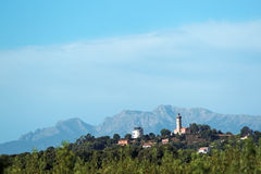 Alistro lighthouse  in Corsica Stock Image