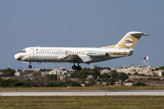 Alitalia A319 ακριβώς αερομεταφερόμενη Στοκ Εικόνες