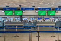 Alitalia-Abfertigungsschalter an internationalem Flughafen Narita Stockbilder