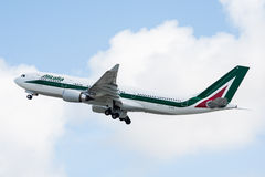 Alitalia Airbus A330 Taking Off Stock Photography