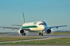 Alitalia Airbus A321 Stock Image