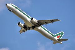 Alitalia Airline Airplane Fleet Royalty Free Stock Photography