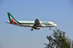 Alitalia airline plane Stock Photo