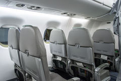 Alitalia Airplane Back Seat View Stock Photo
