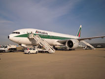 Alitalia airplane parked in Rome Royalty Free Stock Photos