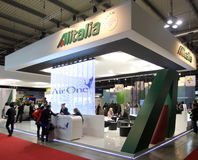 Alitalia at BIT 2013 Stock Image