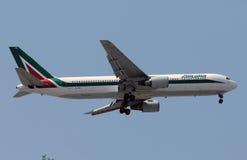 Alitalia Boeing 767 long range jet airplane Royalty Free Stock Photos
