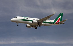 Alitalia Cityliner Embraer ERJ-175 STD Stock Photos