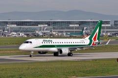 Alitalia-Compagnia Aerea Italiana Fotos de Stock