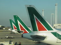 Alitalia flygplan Arkivbild
