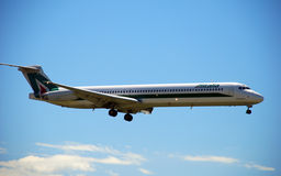 Alitalia - Landing airplane Royalty Free Stock Images