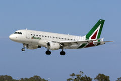 Alitalia A319 in latest livery Royalty Free Stock Image
