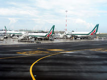 Alitalia planes Stock Photo