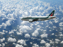Alitalia in the sky Stock Image