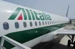 Alitalia Vliegtuig Stock Foto's