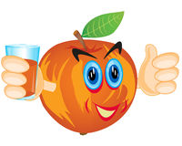 Alive apple with juice stock illustration
