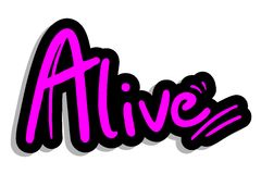 Alive fashion sticker Royalty Free Stock Photos