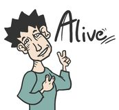 Alive man Royalty Free Stock Photos