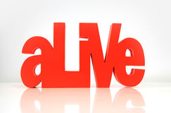 Alive word Stock Image