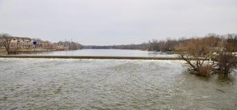 Aliviadero del río del Fox en Ginebra fotografía de archivo libre de regalías