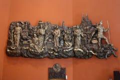 Alivio bajo con las iglesias y los santos patrones de Kaptol la vieja parte de Zagreb Fotografía de archivo libre de regalías