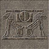 Alivio de Chiseld en granito Fotografía de archivo