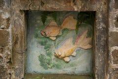 Alivio de los pescados del oro Fotografía de archivo libre de regalías