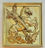 Alivio de San Jorge en iglesia Imagen de archivo libre de regalías
