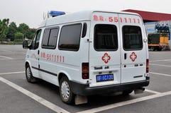 Alivio de terremoto una ambulancia Fotografía de archivo